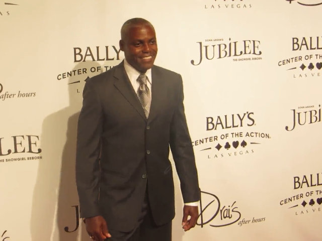 Athlete Carl Lewis Celebrates The Re-Opening Of 'Jubilee!' At Bally's In Las Vegas
