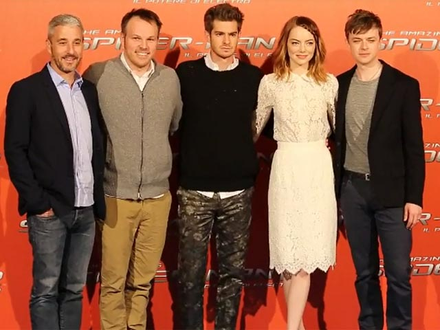 The Cast Of 'The Amazing Spider-Man 2' Pose Together At Rome Premiere