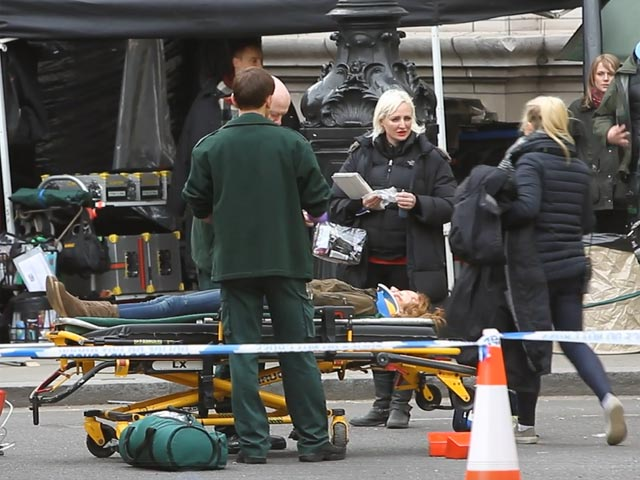 Emily Berrington Seen Filming Dramatic Scenes In London For '24: Live Another Day' - Part 2