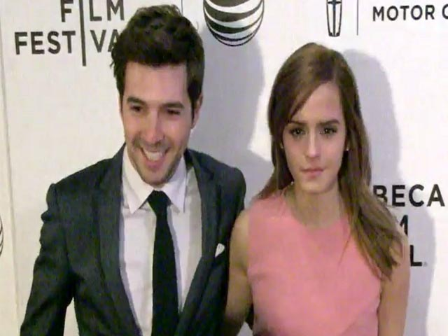 Emma Watson And Katie Holmes Spotted At 'Boulevard' Tribeca Premiere