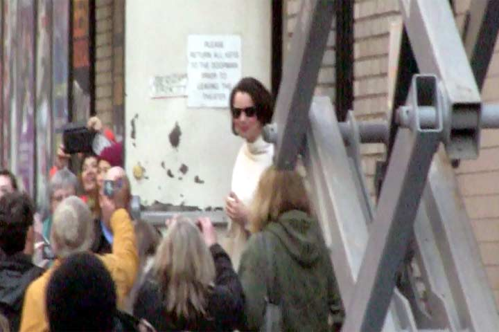 Fran Drescher Appears Outside The Broadway Theatre In New York