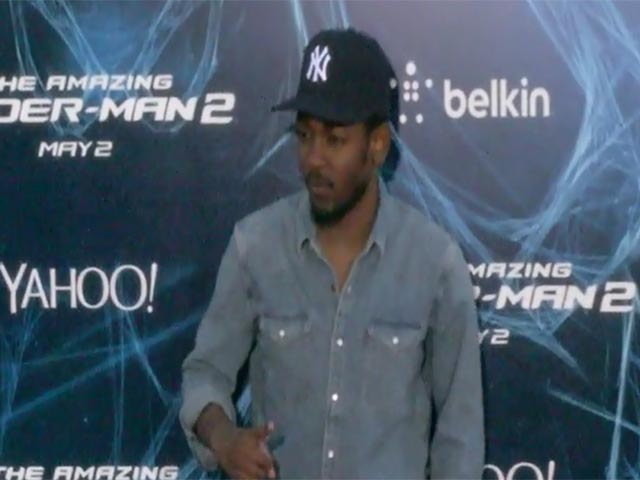 Kendrick Lamar Poses On The Red Carpet At 'The Amazing Spider-Man 2' NY Premiere - Part 1