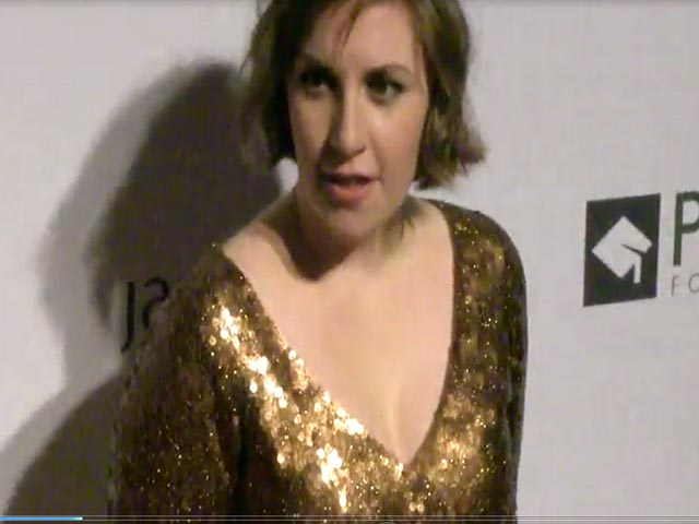 Lena Dunham Glitters In Gold At The Point Foundation Gala