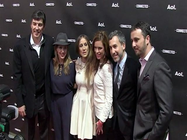 Sarah Jessica Parker And AOL CEO Pose Together At The 2014 AOL NewFront - Part 1