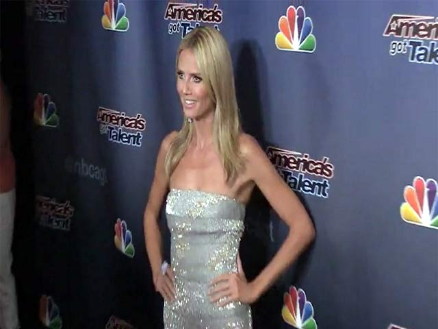 Heidi Klum Looks Glamorous In Sparkling White At 'America's Got Talent' After Show Event