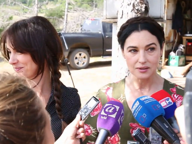 Monica Bellucci Talks About Serbian Drama 'On the Milky Road' On The Set