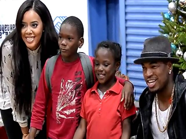 Ne-Yo And Angela Simmons Meet The Children Of Miami's Boys And Girls Clubs - Part 1