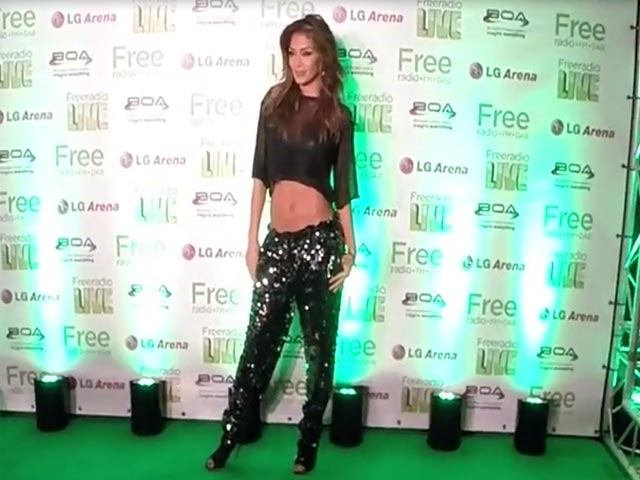 Nicole Scherzinger Joins Ed Sheeran And Olly Murs At Free Radio Live - Part 1