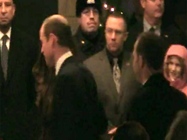 William, Duke of Cambridge And Catherine, Duchess of Cambridge Smile At Fans Outside The Carlyle Hotel