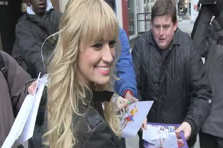 Beth Behrs Signs Autographs As She Leaves CBS Studios