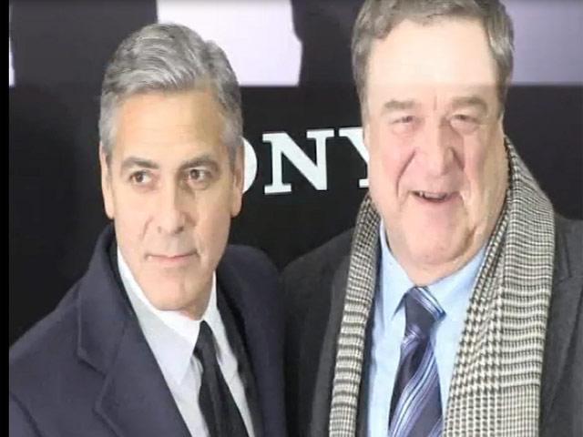 George Clooney Arrives At 'The Monuments Men' Premiere With His Parents - Part 1