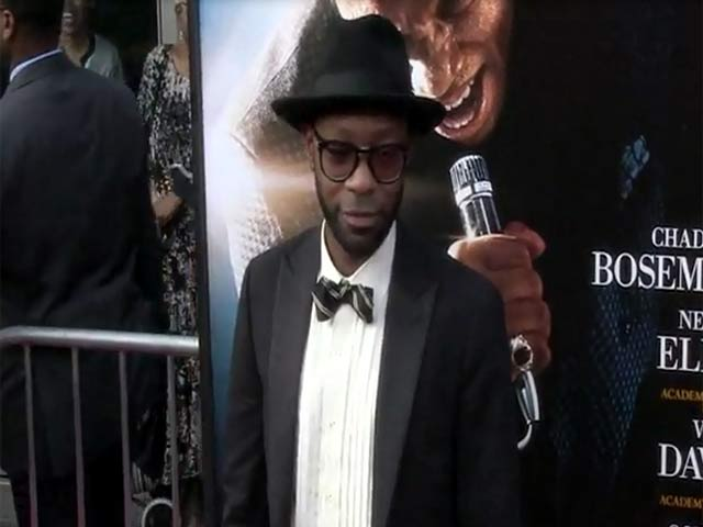 Chadwick Boseman Makes His Entrance At The 'Get On Up' NY Premiere - Part 5