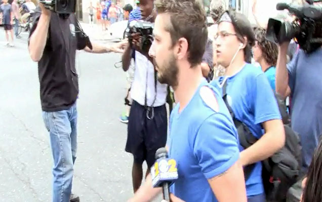 Shia Labeouf Leaves Midtown Community Court In Ripped Blue Shirt