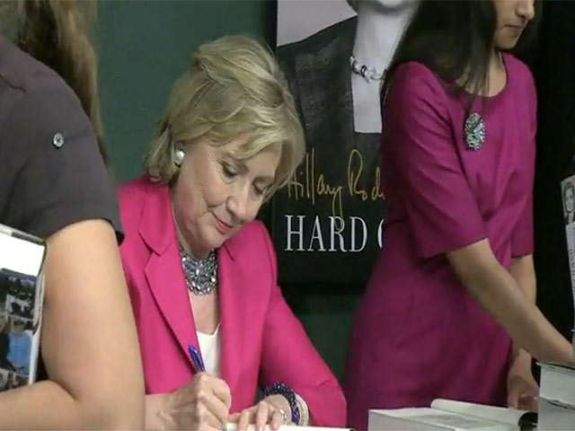 Hillary Clinton Attends A Busy Signing Of Her New Book 'Hard Choices'