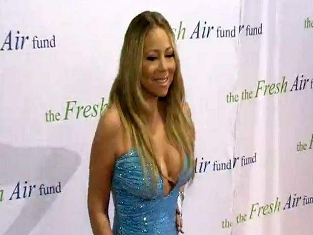 Mariah Carey Wears Daring Blue Dress At 2014 Fresh Air Fund Gala - Part 1