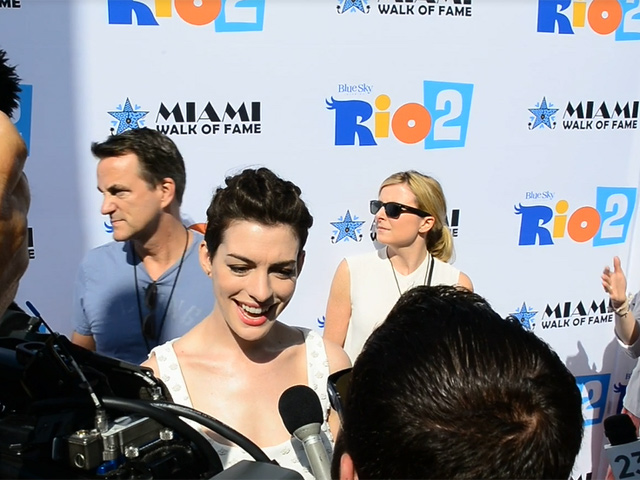 Anne Hathaway Celebrates 'Rio 2' Release At The Fontainebleau Miami Beach Premiere - Part 2