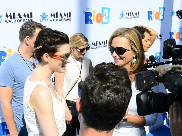 Anne Hathaway Hits The Red Carpet At 'Rio 2' Fontainebleau Miami Beach Premiere - Part 1