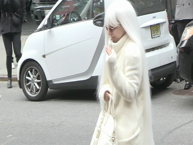 Lady Gaga Dressed In Quirky White Outfit Ahead Of Roseland Ballroom Gig
