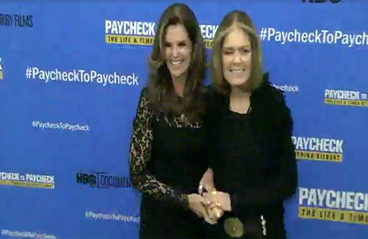 Maria Shriver And Jon Bon Jovi Join Katrina Gilbert At The NY Premiere Of 'Paycheck To Paycheck'
