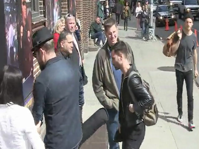 Foster The People Spotted Arriving At 'Letterman' Studios