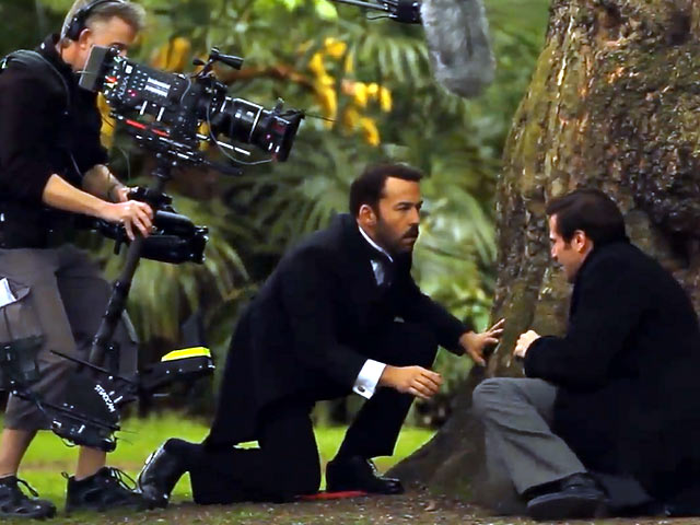 Jeremy Piven And Gregory Fitoussi Shoot Emotional 'Mr Selfridge' Scene - Part 1