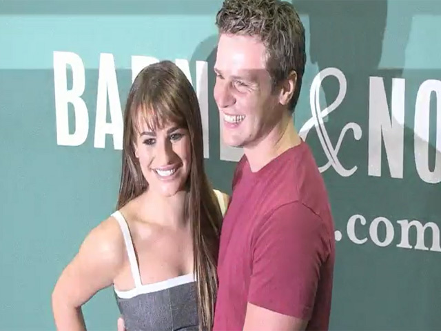 Lea Michele Takes Bestie Jonathan Groff To 'Brunette Ambition' Book Event At Barnes & Noble
