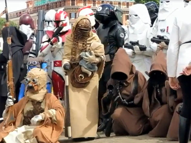 Storm Troopers And Jedis Gather To Celebrate May The Fourth In Rome