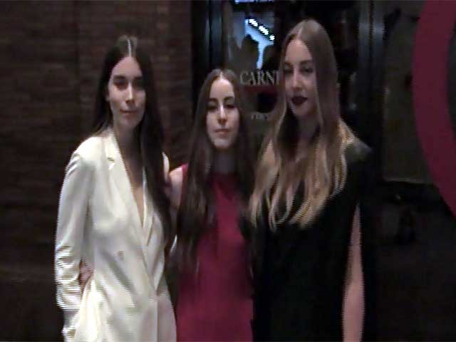 Haim Pose Together At The 2014 Glamour Women Of The Year Awards - Part 1