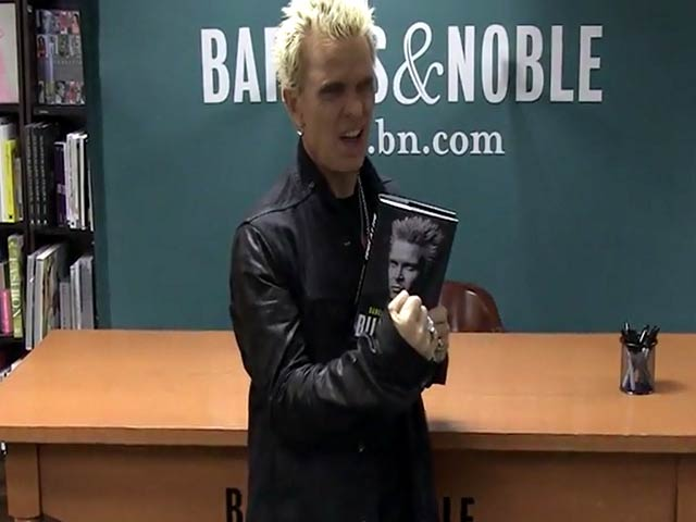 Billy Idol Sneers His Way Through A Book Signing