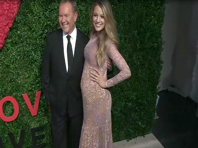 Blake Lively Shows Off Baby Bump In Sparkling Pink At 2014 GLWD Golden Heart Awards - Part 3