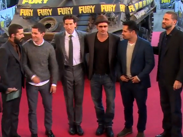 Brad Pitt Joined By Logan Lerman And Shia Labeouf At 'Fury' Photocall