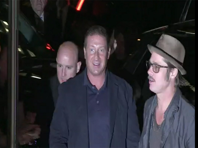 Brad Pitt, Shi Lebouf, Michael Peña And The Stars Of 'Fury' Arrive For The Films New York Premiere -  Pt2