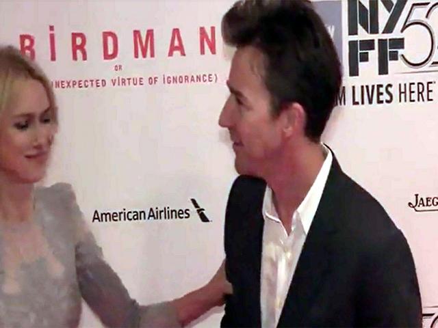Edward Norton, Emma Stone And Naomi Watts Pictured At The NYFF Screening Of 'Birdman'
