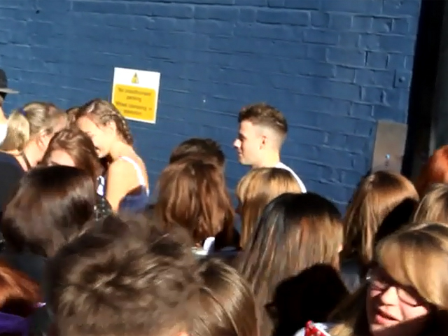 Fans Surround X Factor Boy Band Stereo Kicks Outside Rehearsals - Part 2