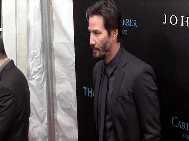 Keanu Reeves And Stars Of 'John Wick' Pose At The Arrivals For The Film Screening