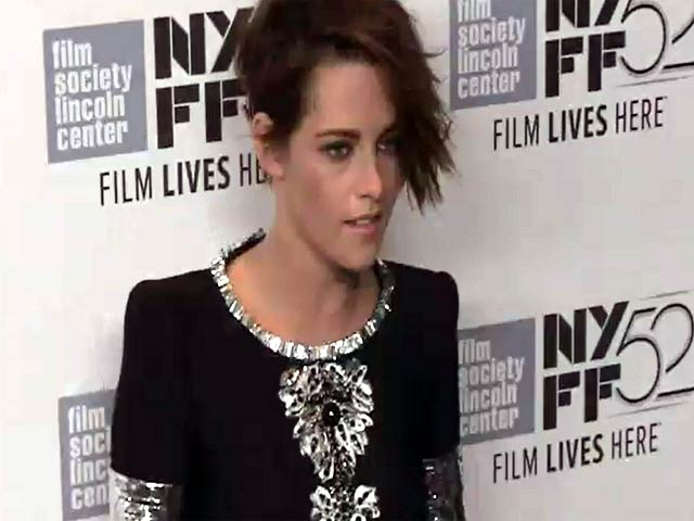 Kristen Stewart photographed at the NYFF screening for 'Clouds Of Sils Maria'