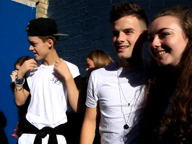 X Factor's Stereo Kicks Pose For Photos With Persistent Fans - Part 1
