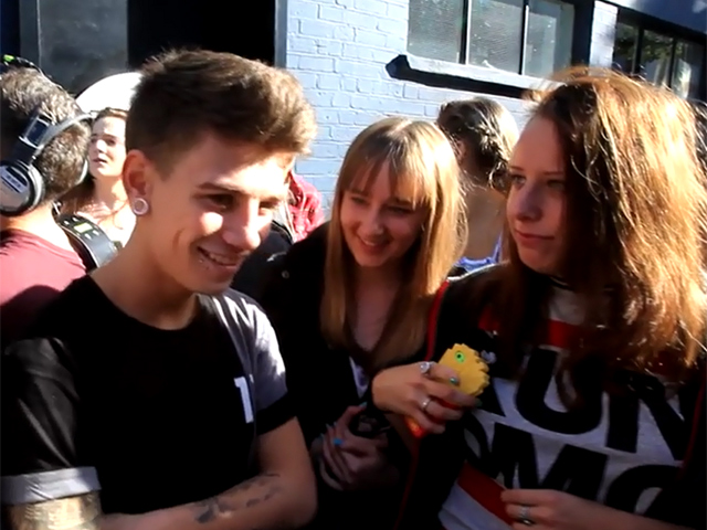 X Factor's Stereo Kicks Left Confused By Fan Questions Outside London Studio  - Part 4
