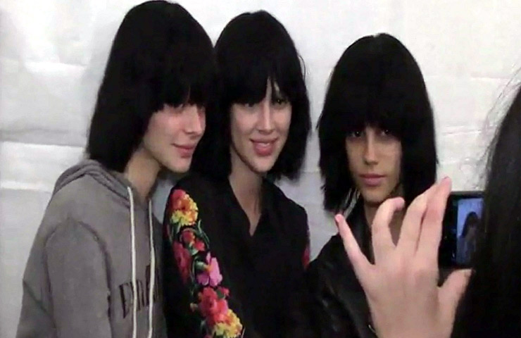 Bare-Faced Marc Jacobs Models Sport The Same Haircuts Backstage During Spring 2015 New York Fashion Week - Part 1