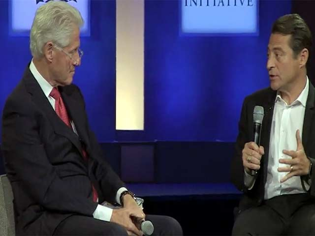 Bill Clinton And Hillary Clinton Speak During The 2014 Clinton Global Initiative In New York - Part 2