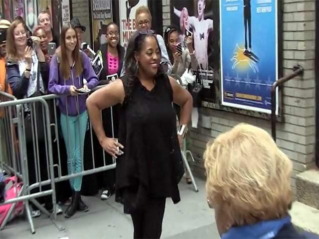 Broadway's 'Cinderella' Star Sherri Shepherd Signs Autographs For Fans
