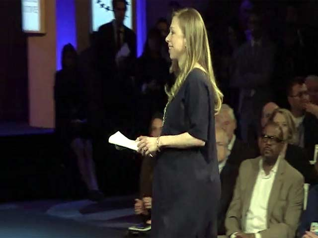 Chelsea And Bill Clinton Speak During The 2014 Clinton Global Initiative In New York - Part 1
