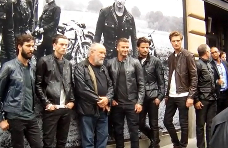 David Beckham Poses For The Signing Of The New 'Off Road' Photo Collection For Belstaff - Part 1