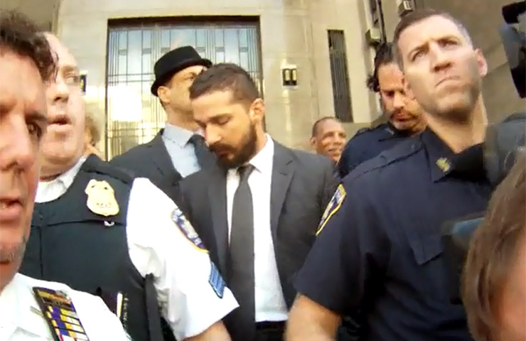 Shia LaBeouf Is Escorted From Court In New York After Guilty Plea