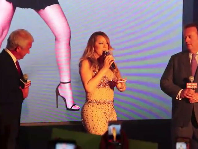 Mariah Carey Welcomes Fans At Vegas Residency Ceremony