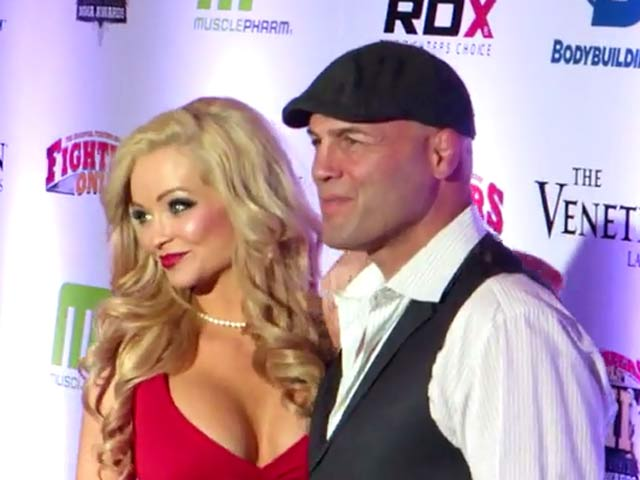 Randy Couture And Mindy Robinson Pose At The 7th MMA Awards In Las Vegas - Part 1