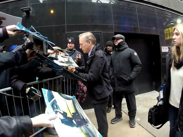 Bob Odenkirk Signs Autographs Following 'Better Call Saul' Premiere