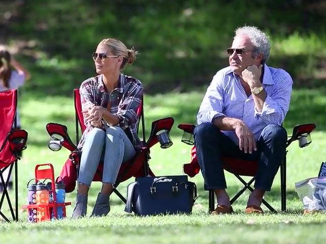 Heidi Klum Watches Her Daughter Play Soccer