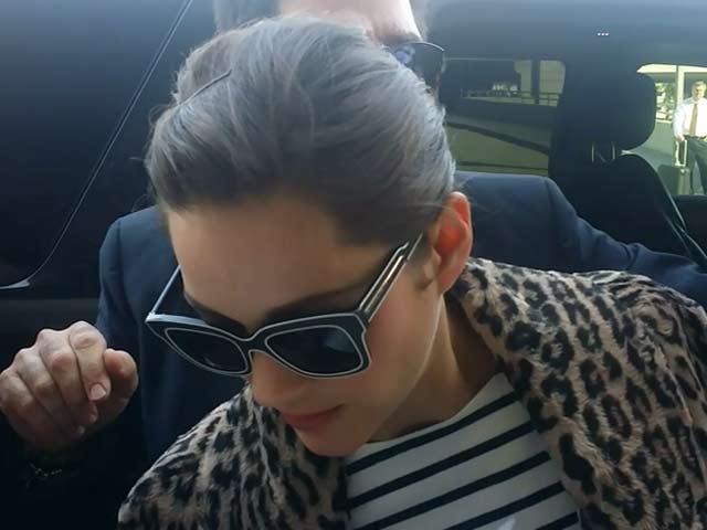 Marion Cotillard Is Elegantly Dressed On Arrival At LAX