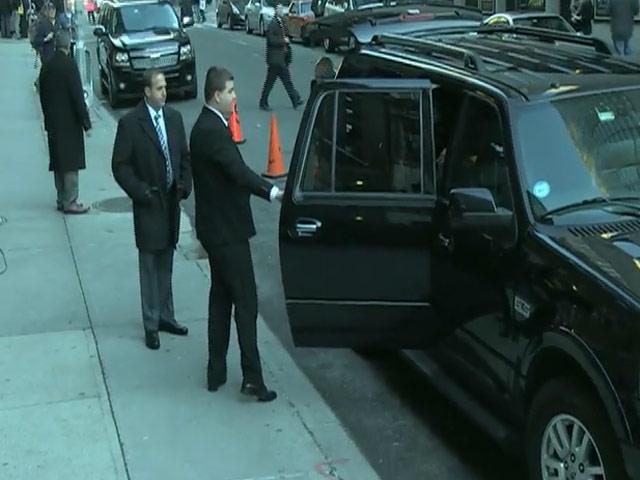 American Football Champ Marcus Mariota Arrives Outside 'Letterman'